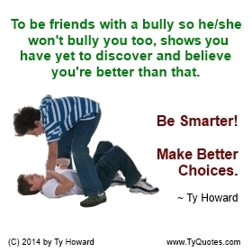 Anti Bullying Quotes Amusing Ty Howard's Anti Bullying Quotes  Tyquotes