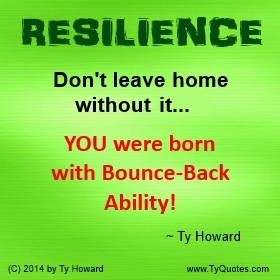 Resilience Quotes Glamorous Ty Howard's Resilience Quotes  Tyquotes