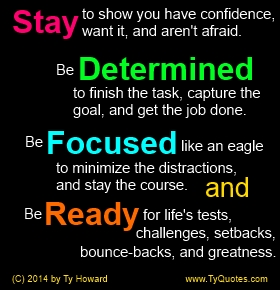 Stay Focused Quotes Adorable Ty Howard's Quote On Staying Determined Focused And Ready